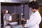This historic 1965 photograph depicted a laborator