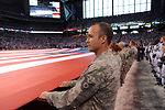 Airmen honor the colors before NFL's AFC Championship Game
