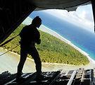 Airmen drop donated goods to islanders
