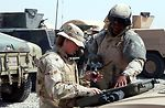 Airmen train Soldiers for protection mission