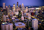 Seattle at nightfall, from top of Space Needle.