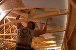 Cadets give up spring break to build homes