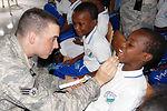Dental team teaches oral hygiene