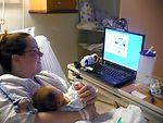Deployed dad watches son's birth via Web cam