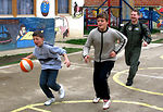 Kosovo children relish playtime with American troops