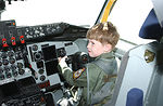 5-year-old cancer survivor plays pilot for a day