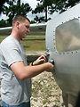 Airman gives static aircraft makeovers