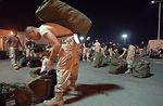 Work begins when boots hit the ground