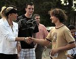 Anna Kournikova visits Ramstein students