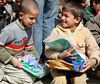 Afghan children get geared up for school