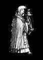 medieval priest with sacrament