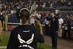 Air Force participates in major league game