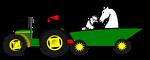 Logo tractor animales