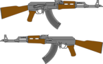 AK 47 Rifle Vector Drawing