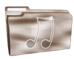 Folder icon plastic music