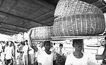 These men were carrying large woven containers on