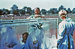 This 1976 photograph shows CDC staff member Dr. St