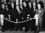 This 1987 photograph showed the dignitaries who'd