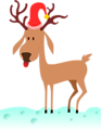 a cartoon reindeer