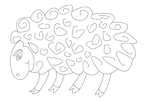 sheep vector coloring