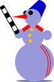 Snowman Traffic Cop by Rones