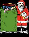 santa and his bag