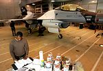 Kunsan Airmen paint arctic F-16 for Eielson