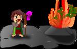 moses and the burning bush (chibi version)