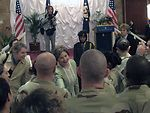 First Lady meets Airmen in Southwest Asia