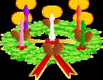 Advent wreath. Advent crown
