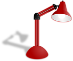 Photorealistic Red Lamp