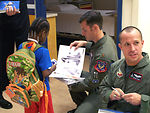 F-22 demo team inspires at children's hospital