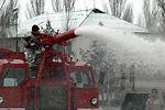 Manas Airmen train with Kyrgyz firefighters