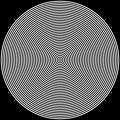 72 circle target black white