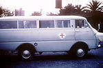 This photograph showed a Red Cross van in Johannes