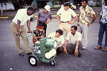 These field technicians are examining a Leco Mini-