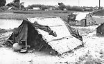 This image depicted a temporary makeshift dwelling
