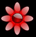 Red Glossy Flower