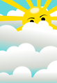 clouds with hidden sun