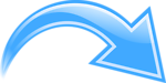 Illustration of a blue curved arrow