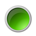 glossy green button