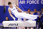 Academy gymnasts compete in Blue-Silver invitational