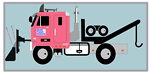 Tow Truck with Snow Plow