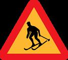 Skiier Sign