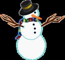 A scarfed Snowman