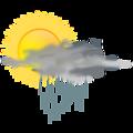 weather icon - sun rain
