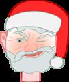 Santa winking 1