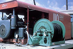 A photograph of mosquito spray truck equipment dur