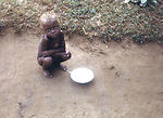 This late 1960s photograph shows a child after fin