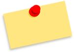 Blank note with thumbtack